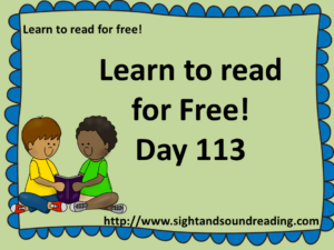 Learn to read for free: https://www.sightandsoundreading.com