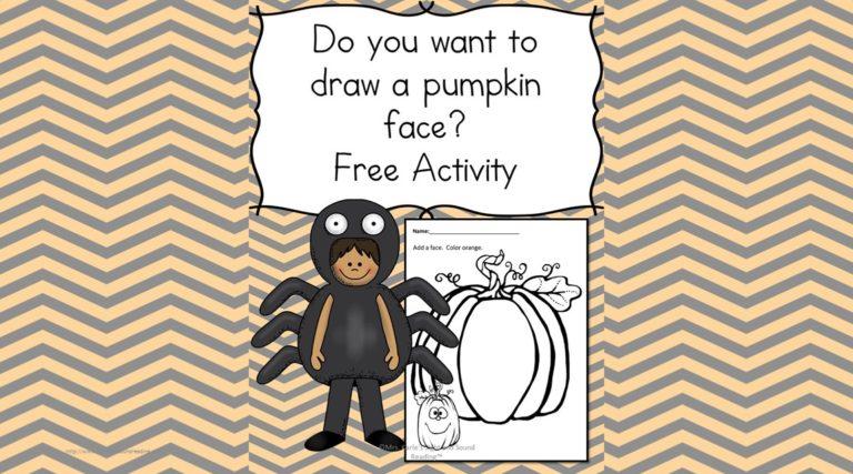 Halloween Worksheet: Draw a face