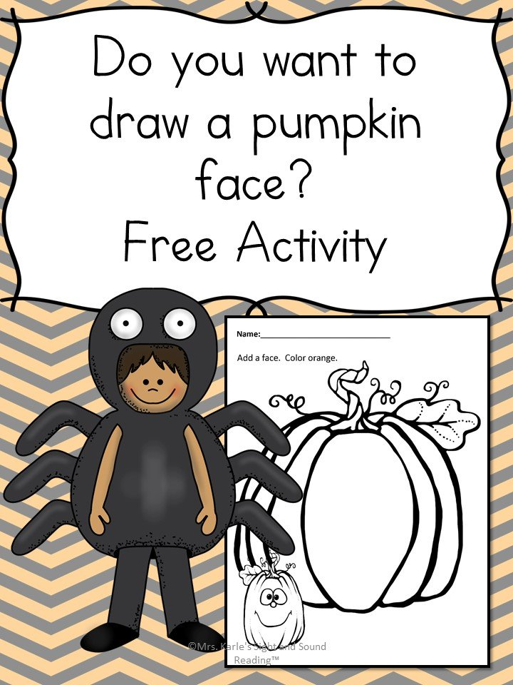 Make a JackoLantern Face Free Activity for Preschool Students – Preschool Halloween Worksheets