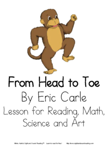 From Head to Toe By Eric Carle -Activity for Kindergarten and First Grade