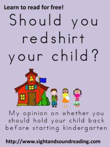 Should you redshirt your child? Kindergarten preparedness