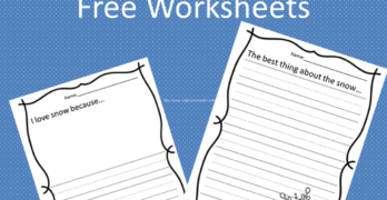 Free Worksheet!  Snowy Day Writing Prompt