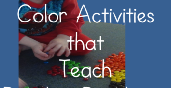 Preschool Color Activities that teach reading readiness.