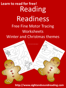 Free Reading Readiness Tracing Worksheet. For more free resources to help teach your child to read, visit https://www.sightandsoundreading.com