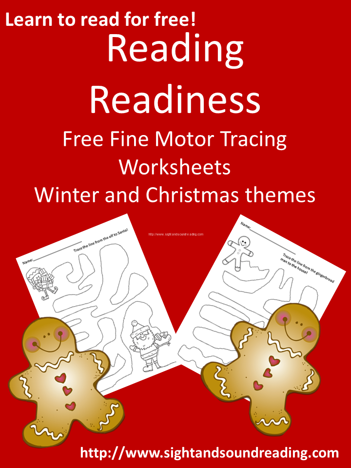 Free Reading Readiness Tracing Worksheets