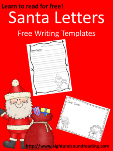 Letter to Santa Template: More fun resources for beginning readers can be found at https://www.sightandsoundreading.com