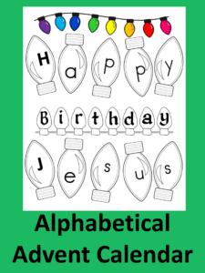 Advent Calendar:  Happy Birthday Jesus
