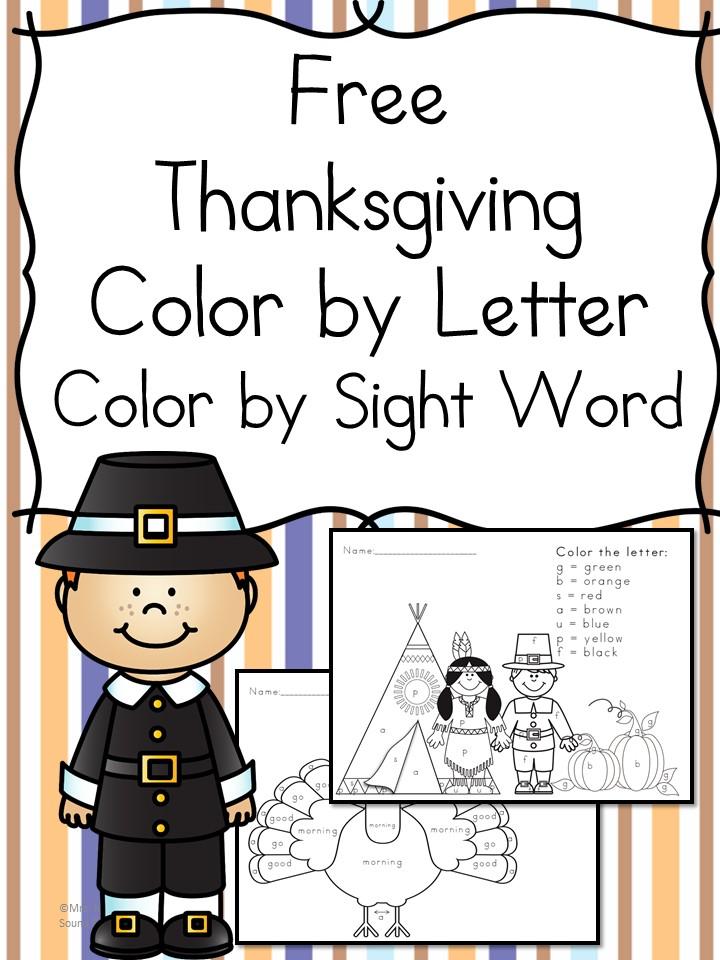 Free Thanksgiving Worksheets for Kids PreschoolKindergarten Fun – Thanksgiving Worksheets