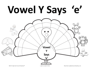 Y as a vowel says the long e sound when it is in a word with more than one syllable. Fun activity included! Visit https://www.sightandsoundreading.com for more information.