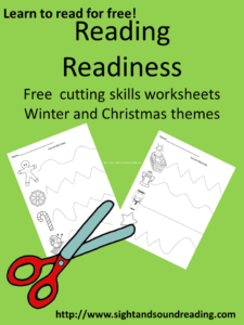 Reading Readiness free cutting worksheets! Visit https://www.sightandsoundreading.com to get your free copy.