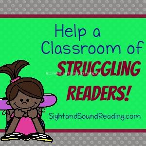 Help a classroom of struggling readers learn to read better.