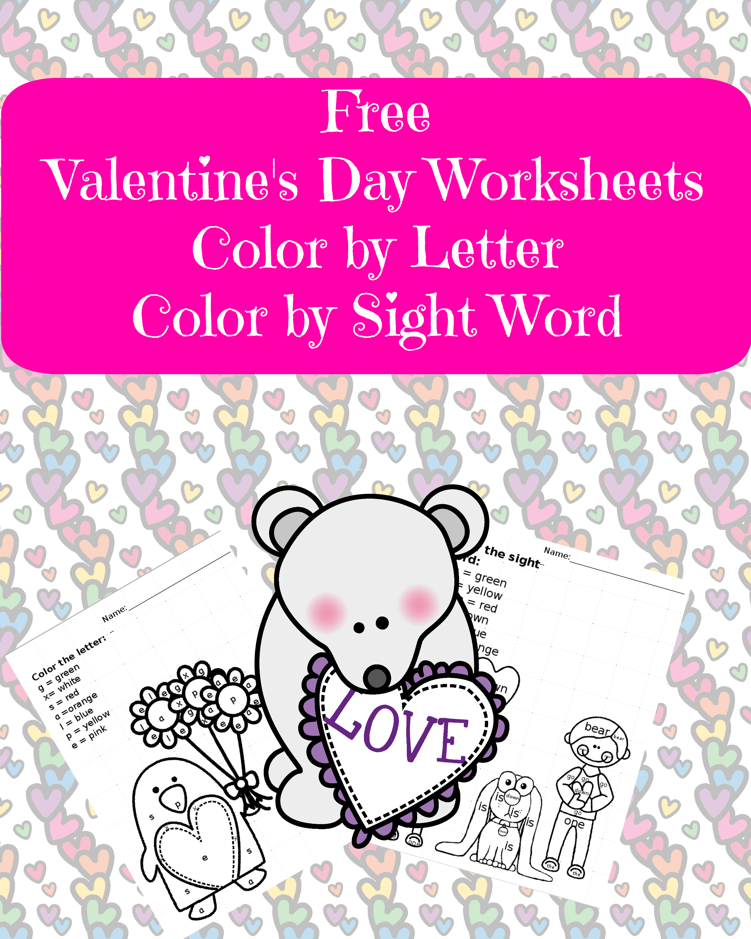 valentine sight word worksheet. Black Bedroom Furniture Sets. Home Design Ideas