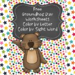 Groundhog Day Color By Letter/Sight Word -Fun worksheets for preschool/kindergarten!