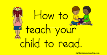 How to teach your child to read. It is easier than you think! Five easy steps to get your little one reading.