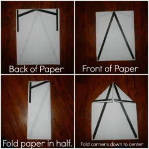 Steps to make a paper airplane that turns into a letter A. Great way to teach the letter A!