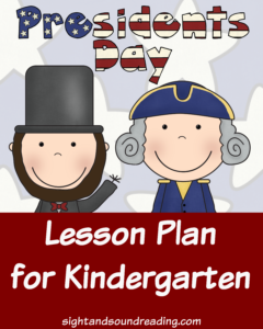Presidents Day Lesson Plan for kindergarten. Fun Book and Activity for Kindergarten students to do on President's Day