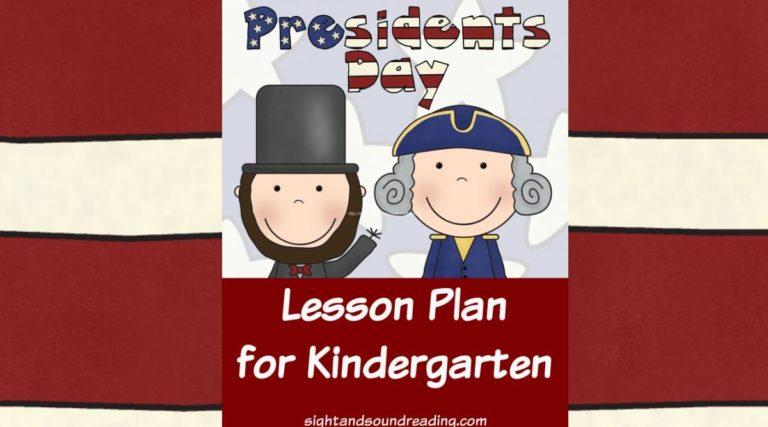 President's Day Lesson Plan for Kindergarten