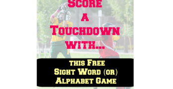 Sight Word Football Game