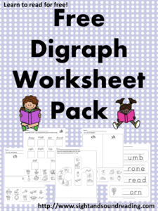 Printables Digraph Worksheets digraph worksheets mrs karles sight and sound reading free for both beginning ending sounds