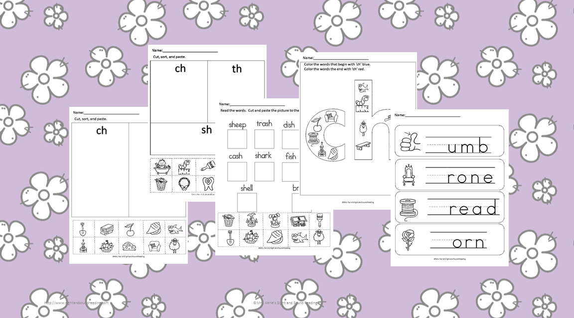 Digraph Worksheets Free th ch and sh digraph worksheets – Digraph Worksheet