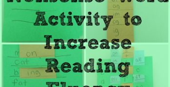 Nonsense Word Fluency Activities