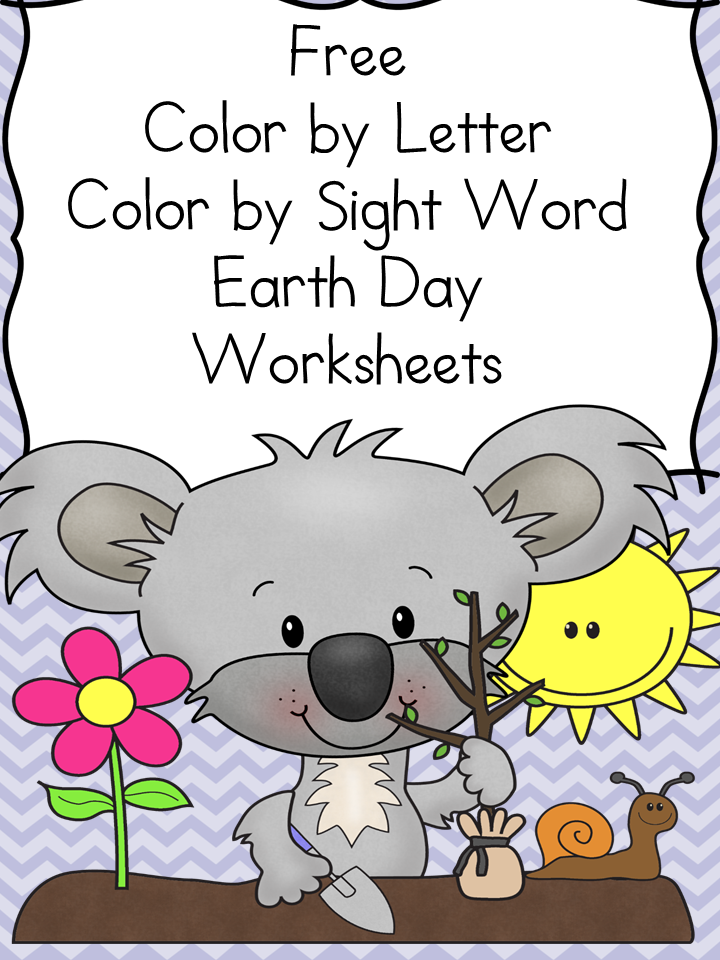Printable Worksheets color by word worksheets : Earth Day Worksheets and lesson ideas for kindergarten