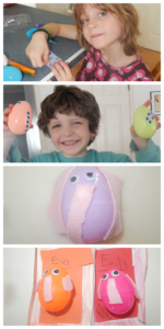 Teaching Phonics Sounds the Short letter E craft: Elephant Eggs