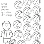 Reading Readiness Worksheets: Tracing, Cutting, Coloring - get your little reader ready to read with these fun basketball worksheets.