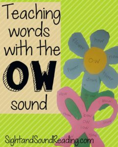 Words with ow sound: Cute craft to teach the ow sound - a flower and a bow!