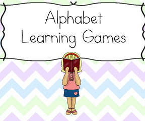 Alphabet Learning Games!  Fun learning games to help teach the alphabet