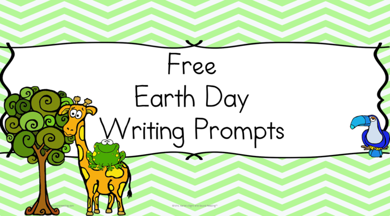 Free Earth Day Writing Prompts – Differentiated 4 ways!