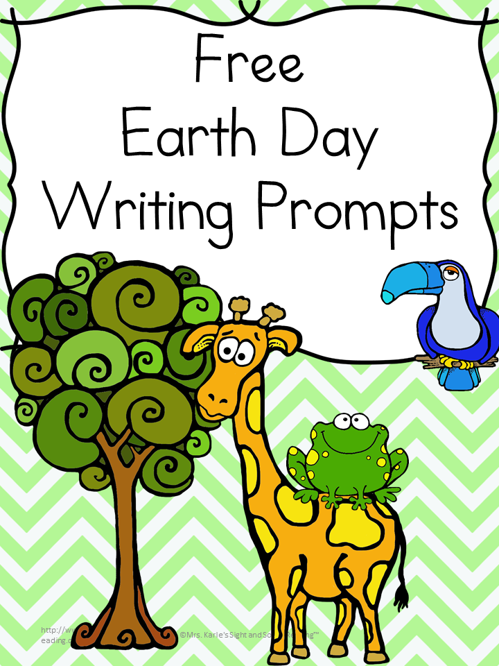 Earth Day Writing Prompts: 4 Free Earth Day writing prompts - 7 pages in all! Great for Kindergarten, or first grade...but, there is even a drawing worksheet that can be used for preschool too!