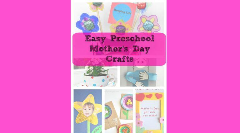 Easy Preschool Mothers Day Crafts