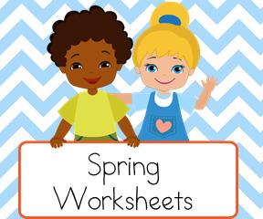 Spring  Worksheets for teaching reading.