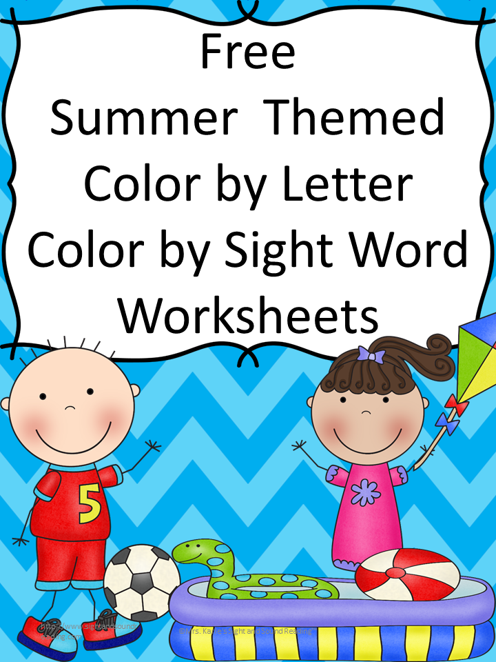 Summer Water Games and Worksheets