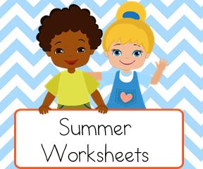 Summer  Worksheets for teaching reading.