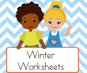 Winter Worksheets for teaching reading.
