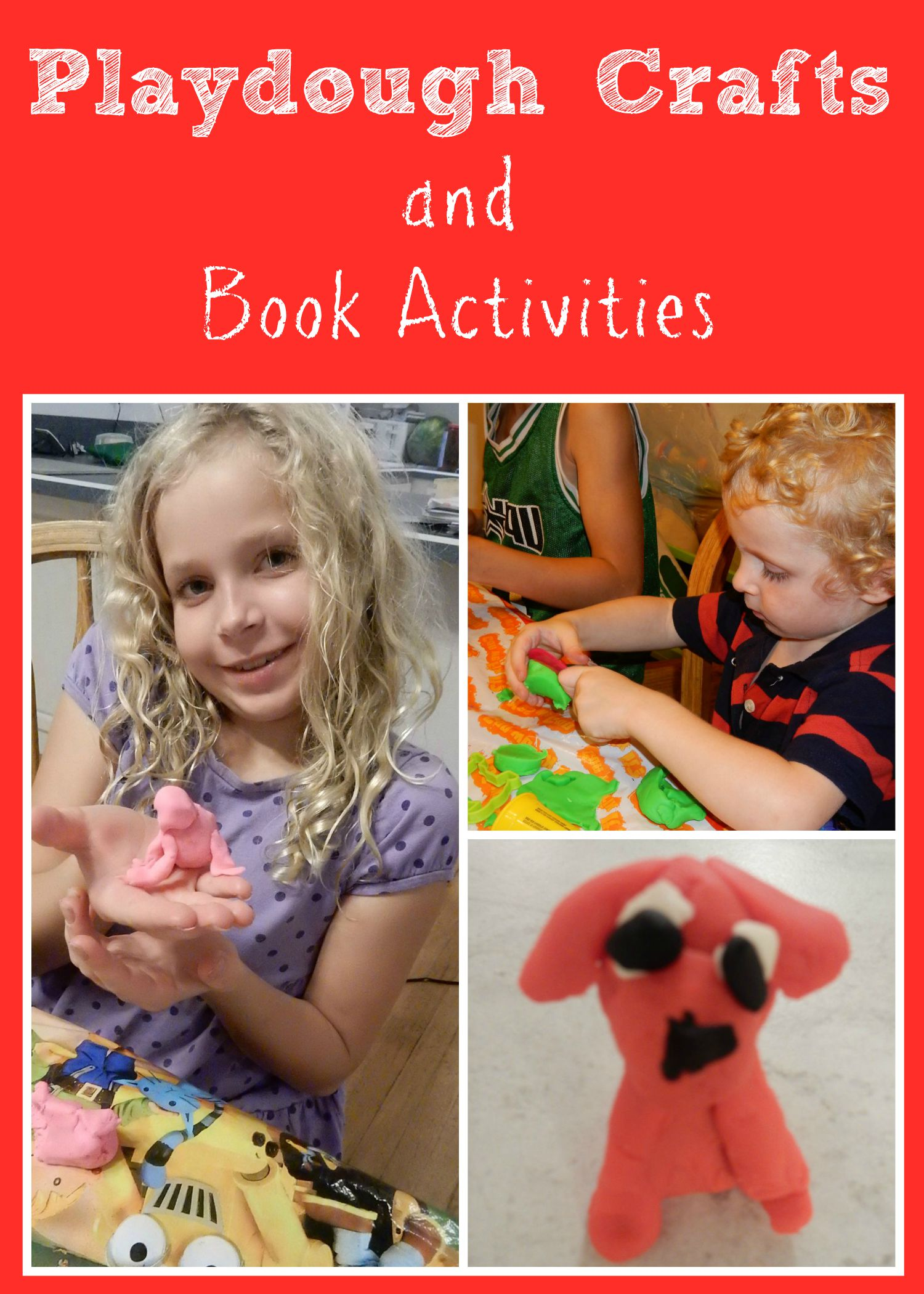 Playdough crafts and activities to go along with books.