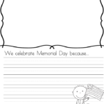 Memorial Day Writing Prompts: Great for Kindergarten or First Grade
