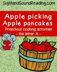 Short A apple picking activity
