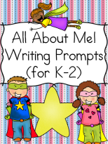 All About Me Writing Prompt for Kindergarten, First or Second Grade