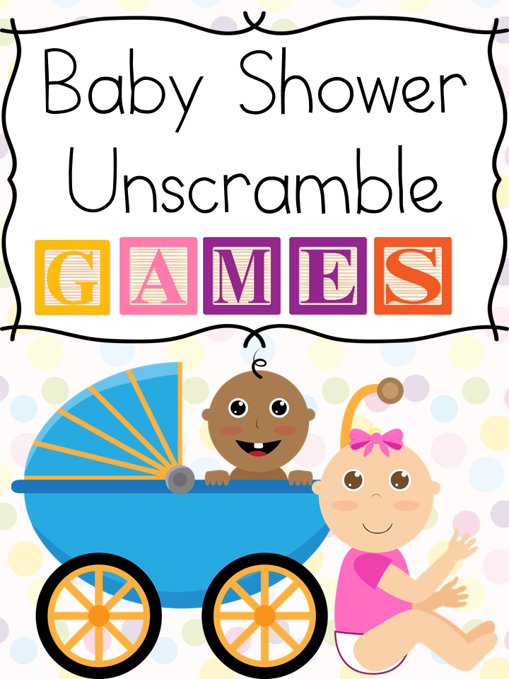 Baby Shower Unscramble Games: Free fun activity to make a baby shower more fun.