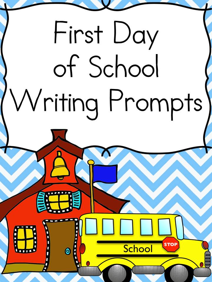 Back to School Writing Prompts for Kindergarten, First or Second Grade