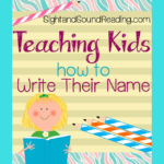 Fun activity to help a child learn to write his name.