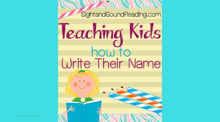 Teaching your child to write their own name