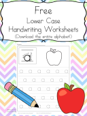 Free Handwriting Practice Worksheets: Download the alphabet at one time and help your child practice writing.