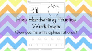 Free Handwriting Practice Worksheets - Download the entire alphabet at once and help your child learn to write
