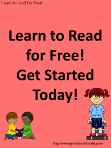 Learn to read free!: Directions on how to get started on our free 120 day reading program.