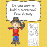 Do you want to build a scarecrow? Fun free activity that will challenge a child's fine motor and cutting skills