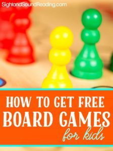 Free Board Games for kids -How you can get them...it is easier than you think!